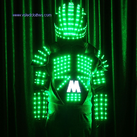 Tianchuang Leather Robot Jacket With Led Light