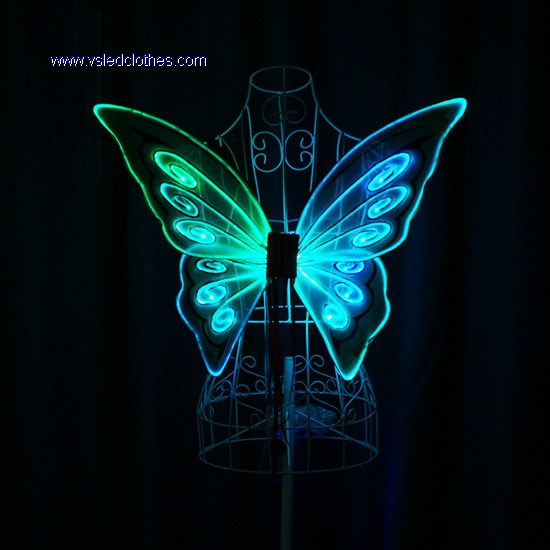 Led Light Up Fiber Optic Butterfly Wings