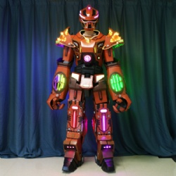 Wearable Stilts LED Transformers Robot Costumes