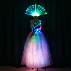 LED Dress with LED Light Up Headwear